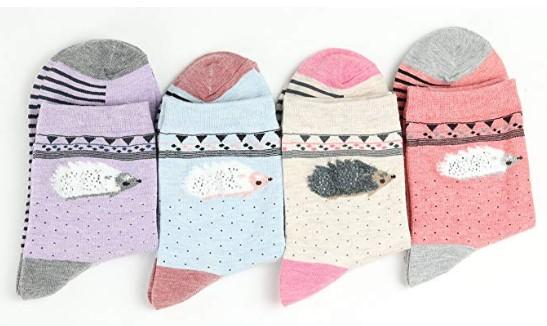 calcetines de erizos de colores